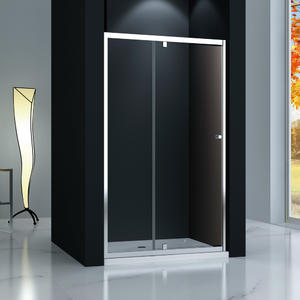 TP123 Recess hinge pivot shower door, 1 Inline panel+ 1 Pivot door