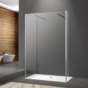 WA03 Single Fliper Frameless Walkin Shower Screen