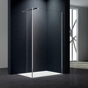 WA06 Walk-in Shower Screen With Flipper