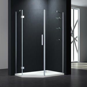P333W Hinge Diamond Shower Enclosure With Shelves