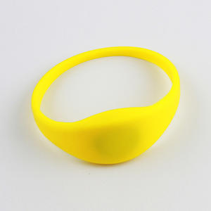 OEM Elastic Polyester NFC RFID HF Woven Wristband Factory