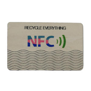 China nfc smart wooden card manufacturer