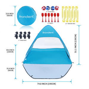 Beach Tents Sun Shelter Pop Up Personpacific Breeze For Adults Tents Fit 3-4 Person