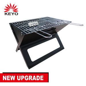 Hot Selling Outdoor Camping Black X Shape Portable Charcoal Table Folding BBq Grill