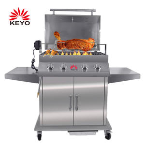 OEM Outdoor Gas Barbecue Grills Factory-KY4976 with ISO90010 Certification
