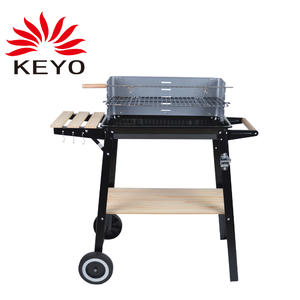 Custom Wood BBQ Grill Factory-YH28020A Wood BBQ Grill