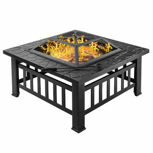 Large Outdoor Garden Patio Iron Stainless Steel Fire Pit