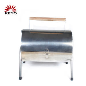 YH28014A Stainless Steel Charcoal Twinscook Grill