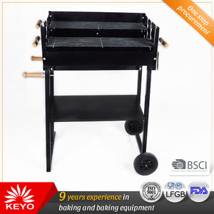 Custom KEYO Trolley Charcoal Grills factory