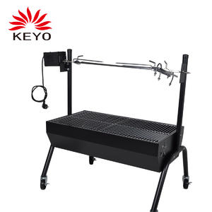 Custom Trolley Grills Manufacturers-YH28030-2 Trolley BBQ Grill
