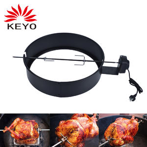 High Heat Resistant Paint Steel Rotisserie Ring Kit For 57cm Kettle Grill Ring With Motor And BBQ Rotesserie