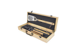 KY47178AZ BBQ Tool Set With Wooden Case