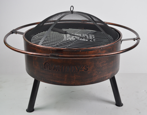 KY182 Fire Pit In Copper Color Finished