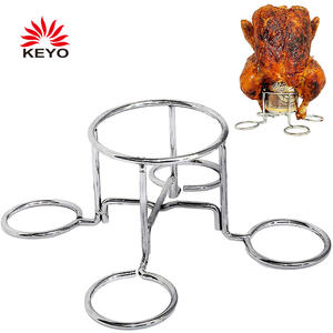 KY1814 Chicken Holder Vertical Beer Can Chicken Roaster Rack For Grill Smoker