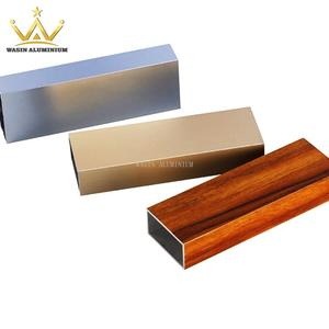 China rectangular aluminum profile and tube suppliers in difference surface color