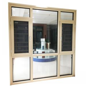Double glass aluminium window and door