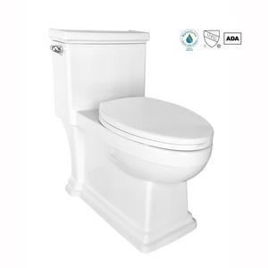 Comfort height skirted one-piece compact elongated 1.28 gpf oem toilet