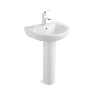 Oval Shape Big Bathroom Sink With Floor Standing Leg