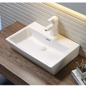 Large rectangular ceramic wash basin