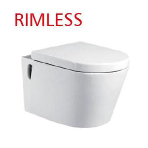 Rimless White One Piece Toilet For Sale