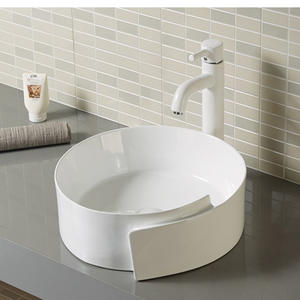 Designed Round Shape Ceramic Bathroom Sink