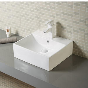 Rectangular bathroom hand wash lavabo