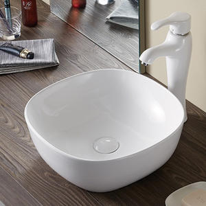 Counter top porcelain face wash sink