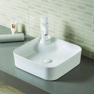 Square Shape Bathroom Mini Wash Hand Basins With Faucet Hole