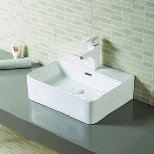 wholesale Rectangular porcelain lavatory wash basin supplier