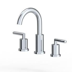 Brass Two Handle Widespread Brushed Nickel Bathroom Faucet