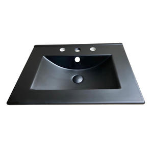 Matt Black Color Ceramic Cabinet Basin Modern Bathroom Sink