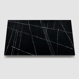 WG462 Lauren Black quartz tile countertop supplier