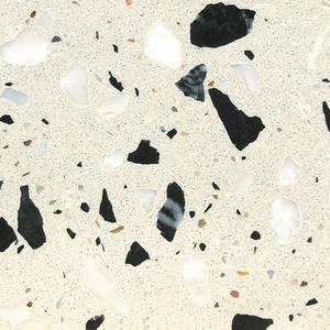 High Quality Cultured Terrazo Cement Stone Supplier-WT253 Black Stippling