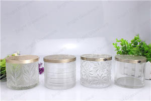 2017 Spring Wholesale Clear Glass Candle Holders With Lid 100% Payment Protection For Your Covered