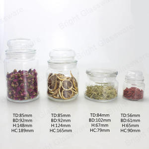 Clear Airtight Empty Wholesale Glass Apothecary Jar Canister Set Jar With Glass Lids