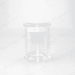 custom Top sale 2oz Clear Cylinder Small Base Danube Candle Jar With Flat Lid manufacturer