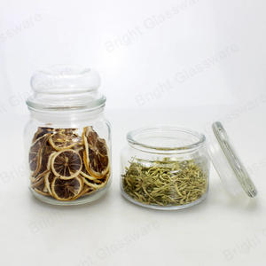 wholesale Food healthy glass transparent crystal glass storage jars with lids manufacturer