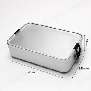 Takeaway Aluminum Coated Silver  Kid Bento Lunch Box Hiking Lunch Boxes Aluminum Tiffin Lunch Box