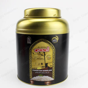 Black 500g tea tin box with seal mushroom double lid for sale
