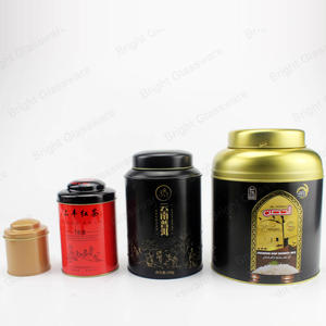 Wholesale New Luxury Tin Box Custom Logo For Tea Coffee Sugar