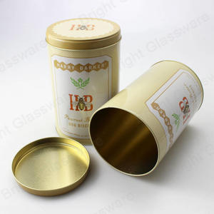 Empty Cylinder Gold Tin Box For Tomato Paste, Canned Fruit, Coffee Bean,metal Tin Cans For Food Packaging