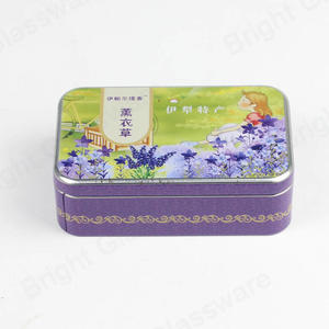 Printed colorful travel tin gift box rectangle tin food cans