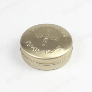 Factory Wholesale Small Gold Gift Can Custom Cosmetic Tin Packaging Boxes