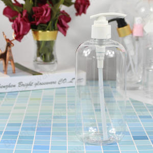 Transparent Plastic Pet Shampoo Bottle 500ml With Lotion Pump