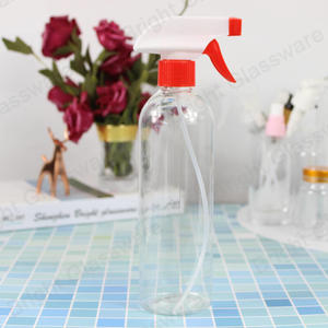 clear round boston trigger sprayer bottle 500ml detergent bottle watering spray bottle