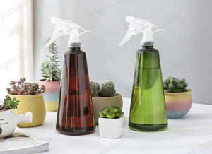 Wholesale Household Daily Garden Cleaning Plastic PET Trigger Sprayer Bottle With Pressure Water Mist Sprayer