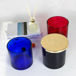 Wholesale Opulent 50 OZ Votive Round Candle Vessels Large Glass Candle Jar With Lid For 3 Wicks Candle