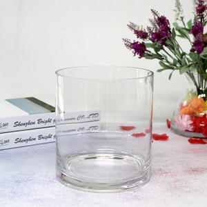 straight transparent 90oz candle container blown extra large glass candle jar