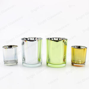 glass jar plating laser engraving silver gold candle holders for wedding decor
