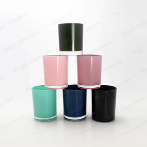 Wedding Decor Multi-Colored Candle Glass Tumbler, Printed Colourful Glass Candle Holder